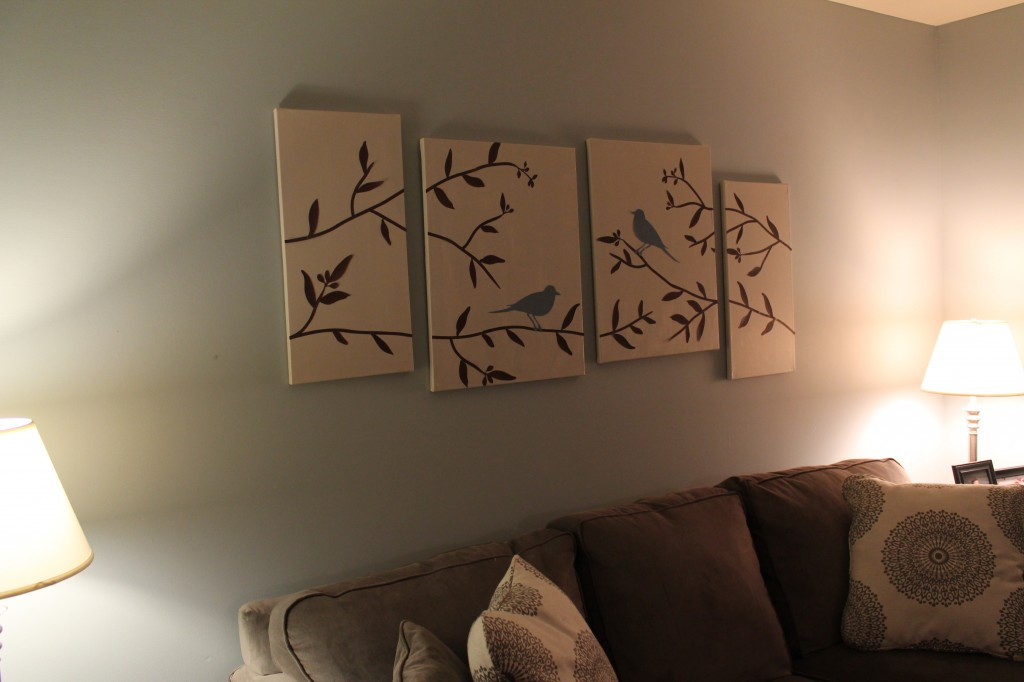 DIY Canvas Art For Your Living Room See Debt Run